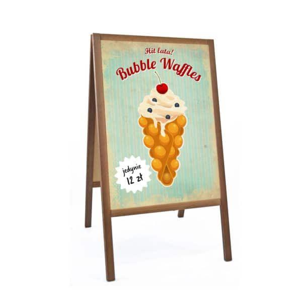 plakat bubble waffle reklama