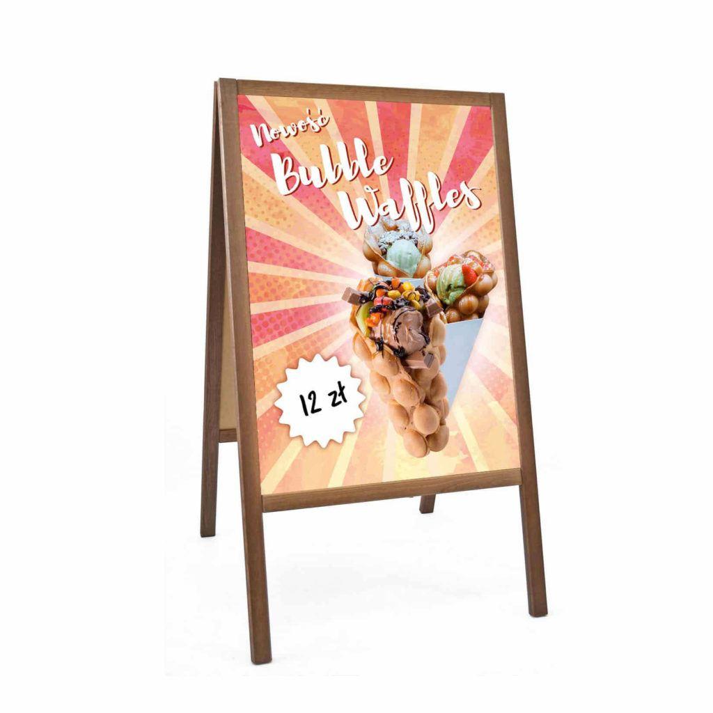 Reklama Bubble Waffle Polish Morze | Plakat Format B2