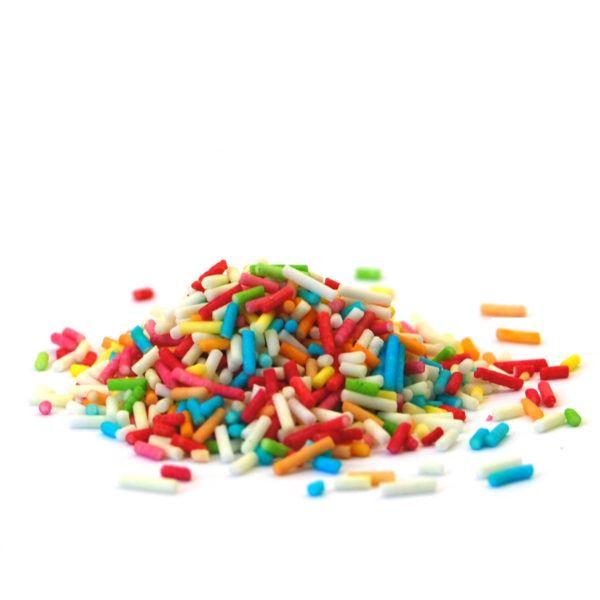 posypka rainbow dekoracyjne pałeczki cukrowe 400g gofrex
