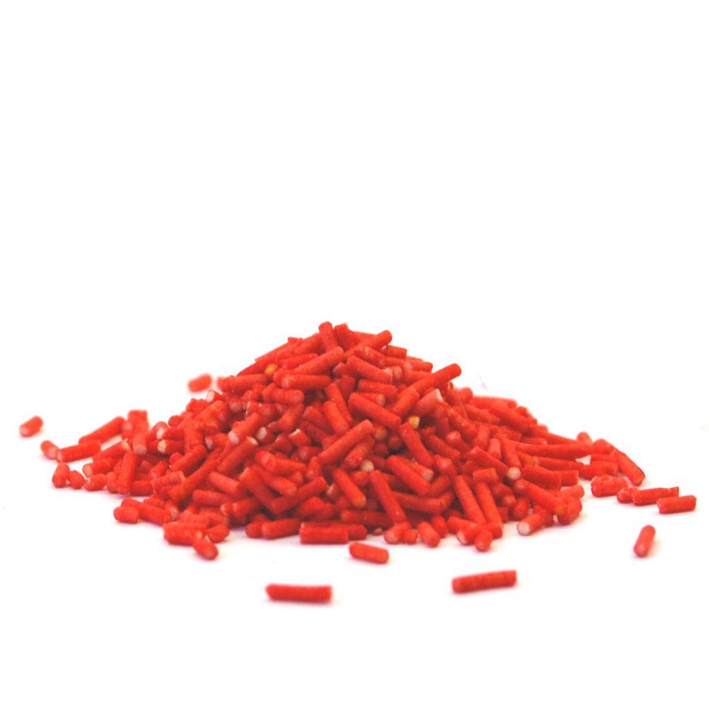 posypka truskawka dekoracyjne pałeczki cukrowe 400g