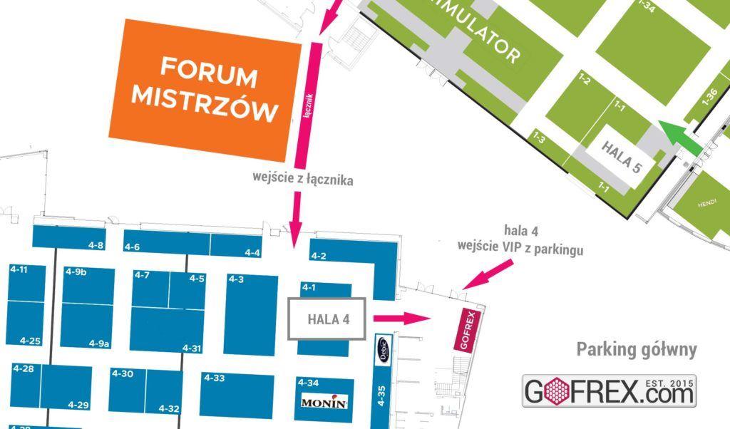 Darmowe zaproszenie na Expo Sweet 2019 mapa TARGI EXPO Facebook