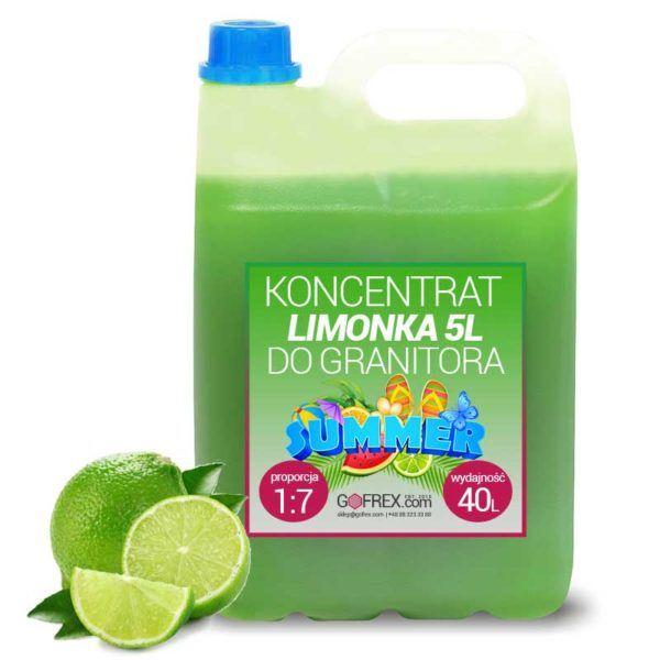 Granita Limonka 6kg | Syrop Slushy | Koncentrat 1:7