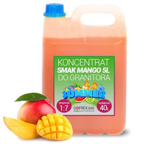 Granita Mango 6kg | Syrop Slushy | Koncentrat 1:7