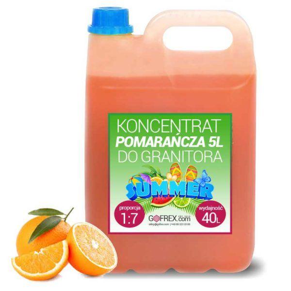Granita Pomarańczowa 6kg | Syrop Slushy | Koncentrat 1:7
