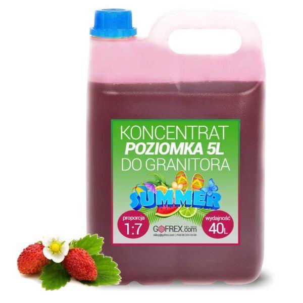 Granita Poziomka 6kg | Syrop Slushy | Koncentrat 1:7