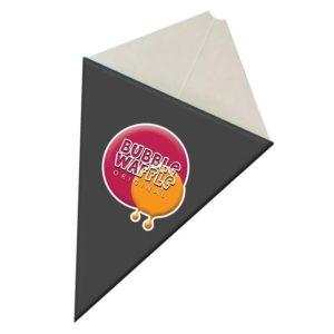 Rożki gofry bubble waffle | Kolor grafitowy
